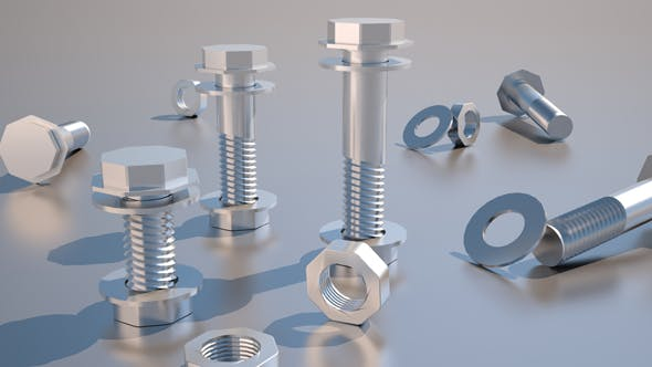 nut,bolts - 3DOcean Item for Sale