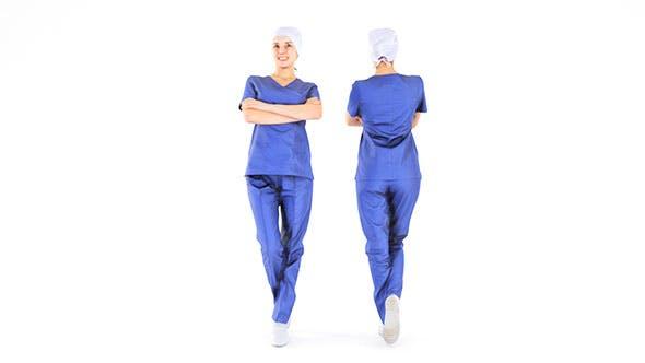 Scanned medical nurse 08 - 3DOcean Item for Sale