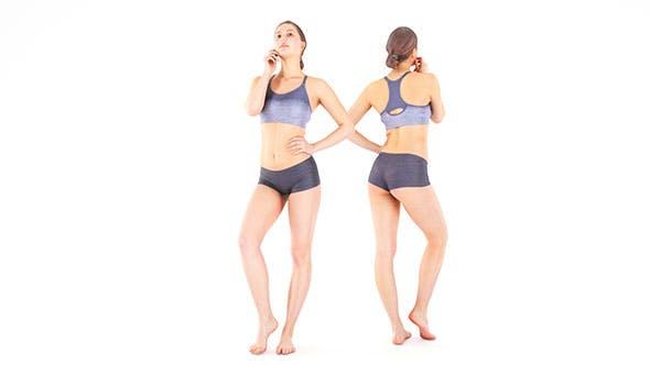 Scan female sport 19 - 3DOcean Item for Sale