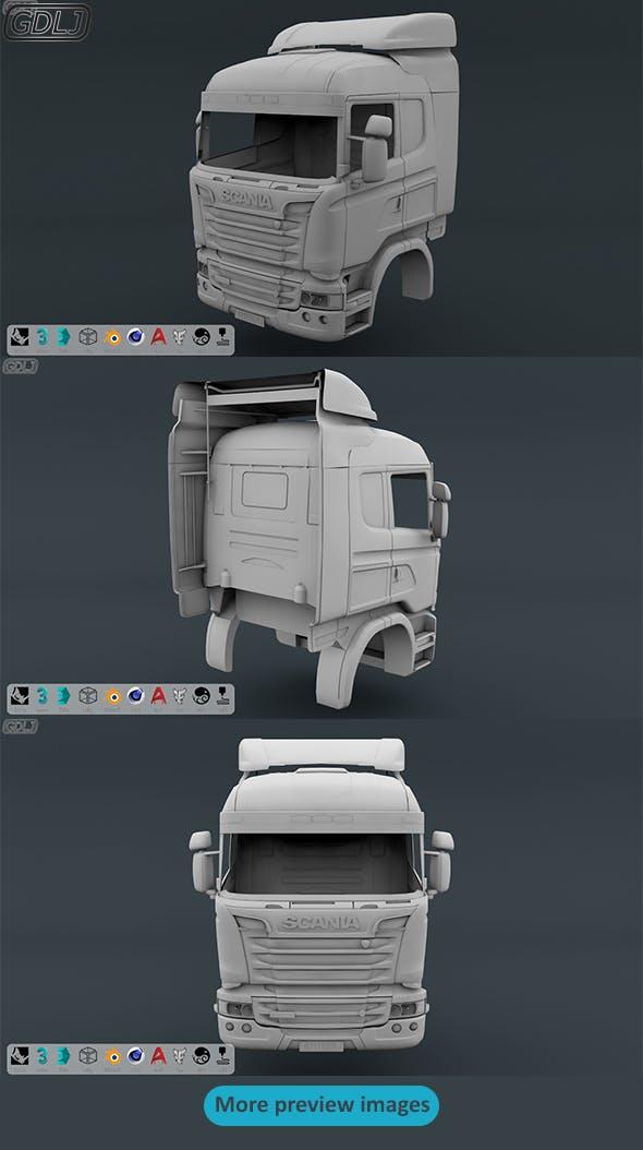 Scania R730 V8 Cabin - 3DOcean Item for Sale