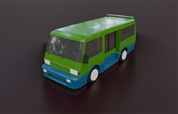 City Transport Low Poly - 3DOcean Item for Sale
