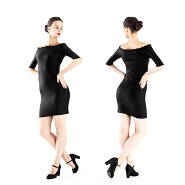 Woman in a little black dress 01