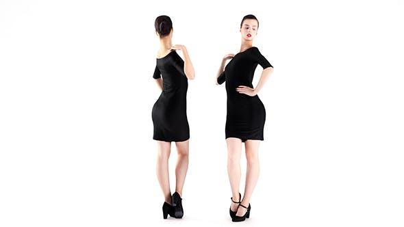 Woman in little black dress 02 - 3DOcean Item for Sale