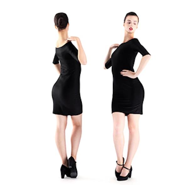 Woman in little black dress 02