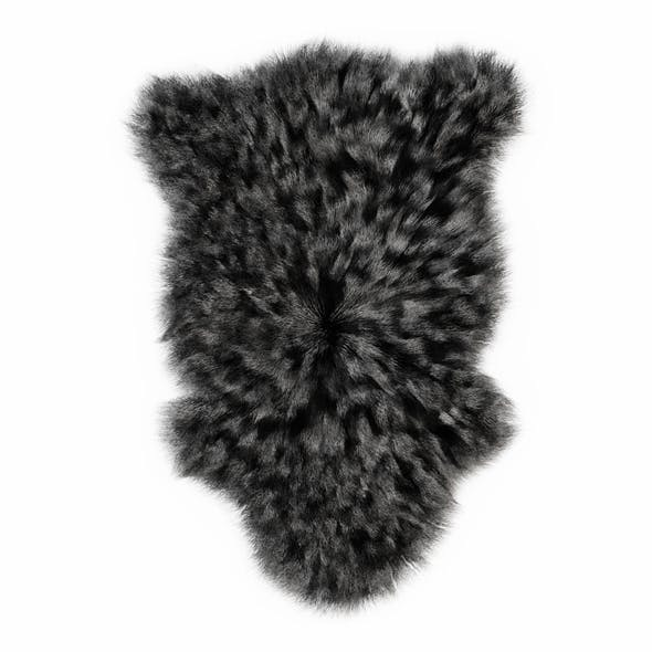 Bedside Sheepskin Rug Fur 02 - 3DOcean Item for Sale