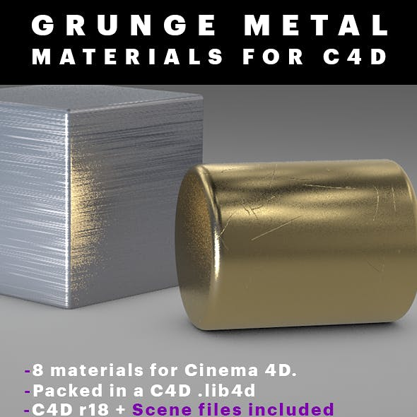 Grunge Metal Materials For C4D