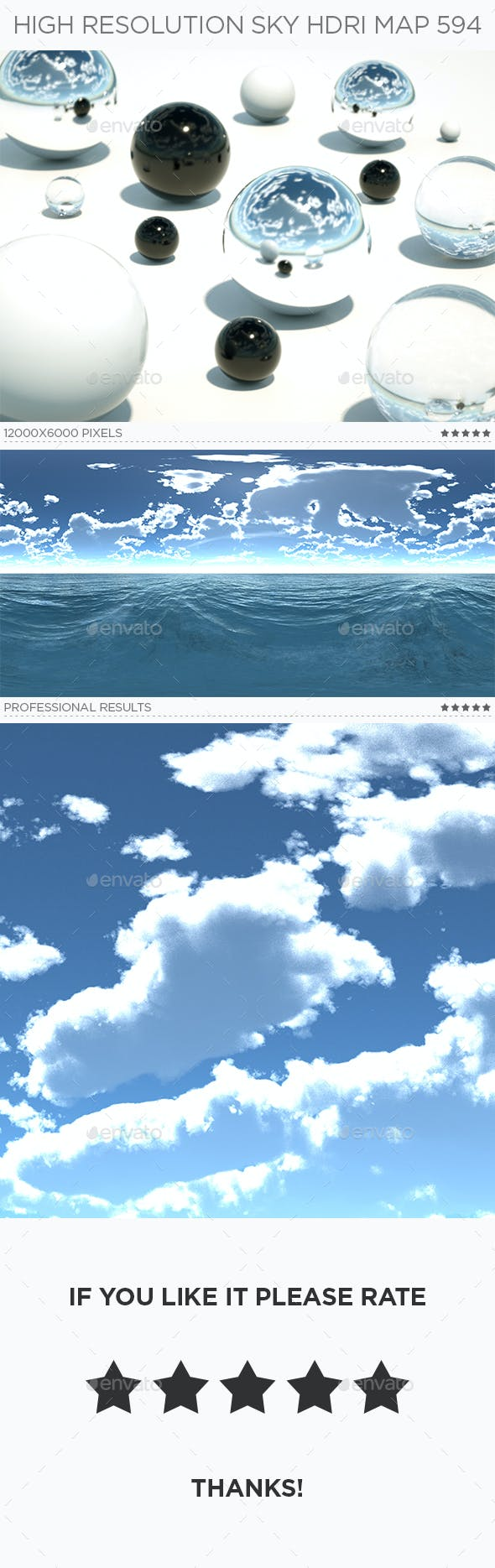 High Resolution Sky HDRi Map 594 - 3DOcean Item for Sale