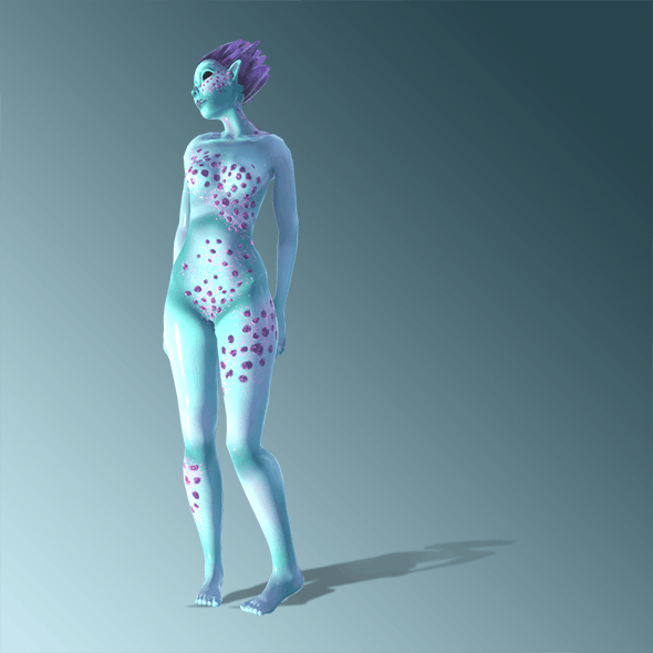 sylized character_Crystal - 3DOcean Item for Sale