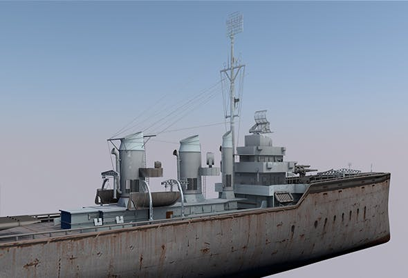 Warship HMS Staunch - 3DOcean Item for Sale