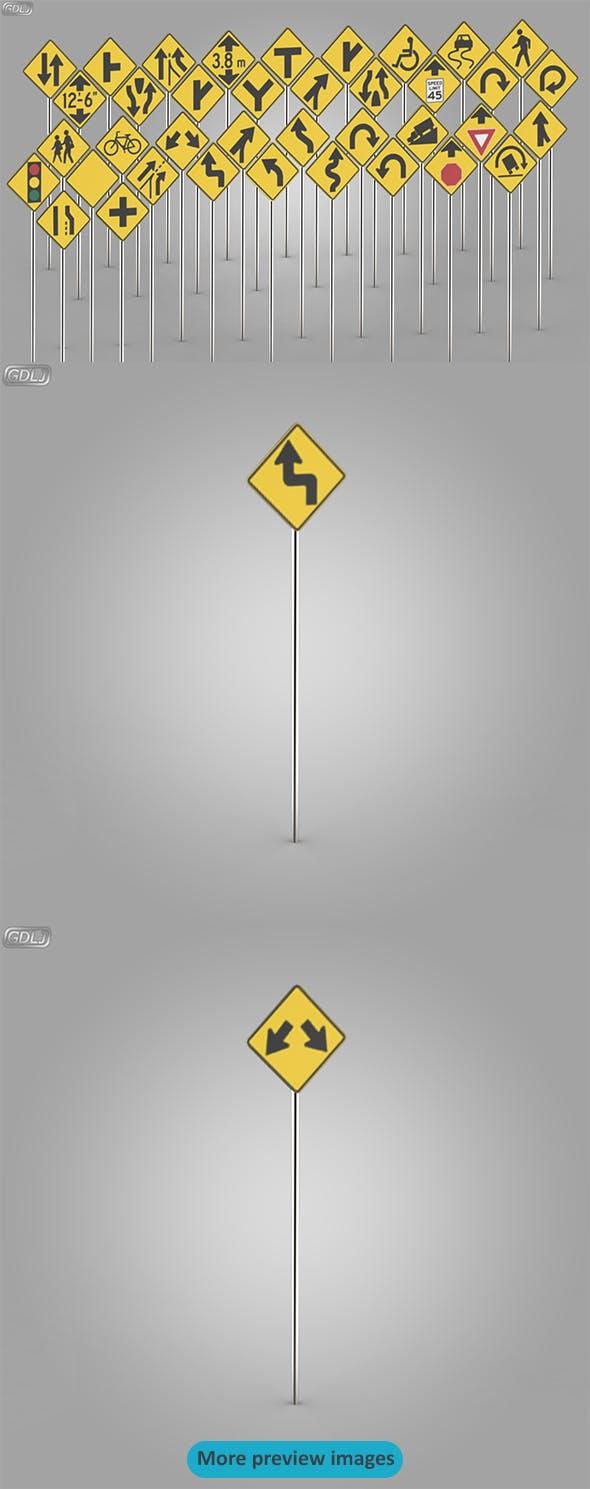 38 Street Signs - 3DOcean Item for Sale