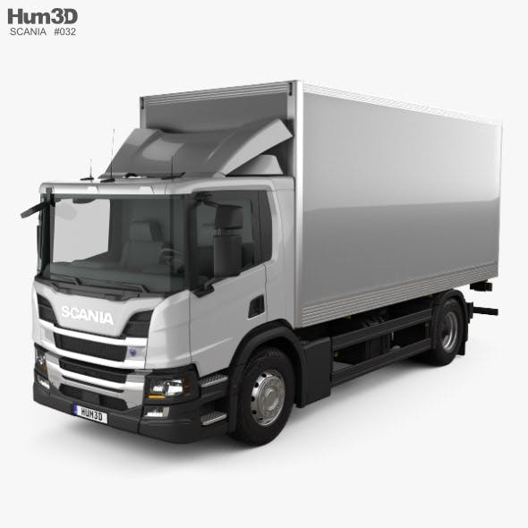 Scania P Box Truck 2017 - 3DOcean Item for Sale