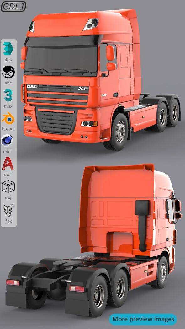 DAF XF 105 Orange by LaythJawad | 3DOcean