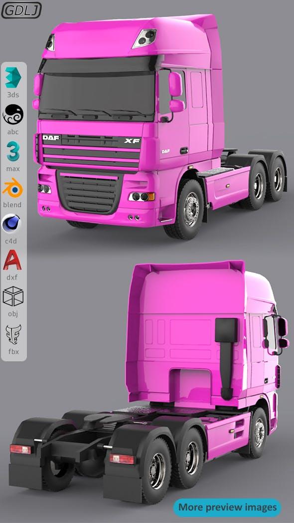 DAF XF 105 Pink - 3DOcean Item for Sale