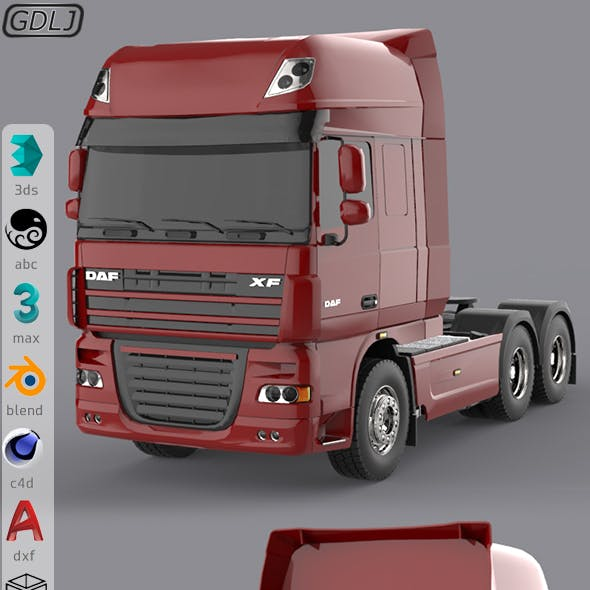 DAF XF 105 Red