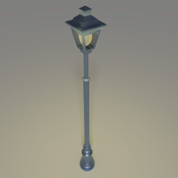 Low poly street light - 3DOcean Item for Sale
