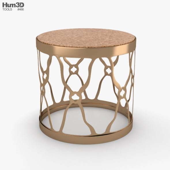 Round Side Table - 3DOcean Item for Sale