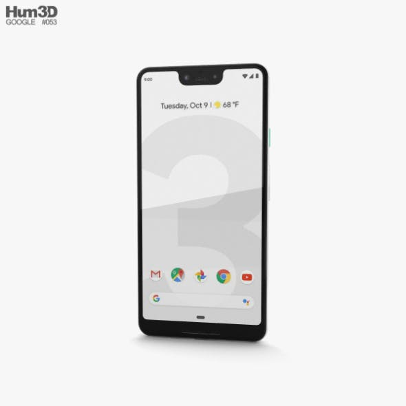 Google Pixel 3 XL Clearly White - 3DOcean Item for Sale