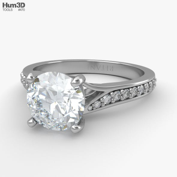 Engagement Diamond Ring - 3DOcean Item for Sale