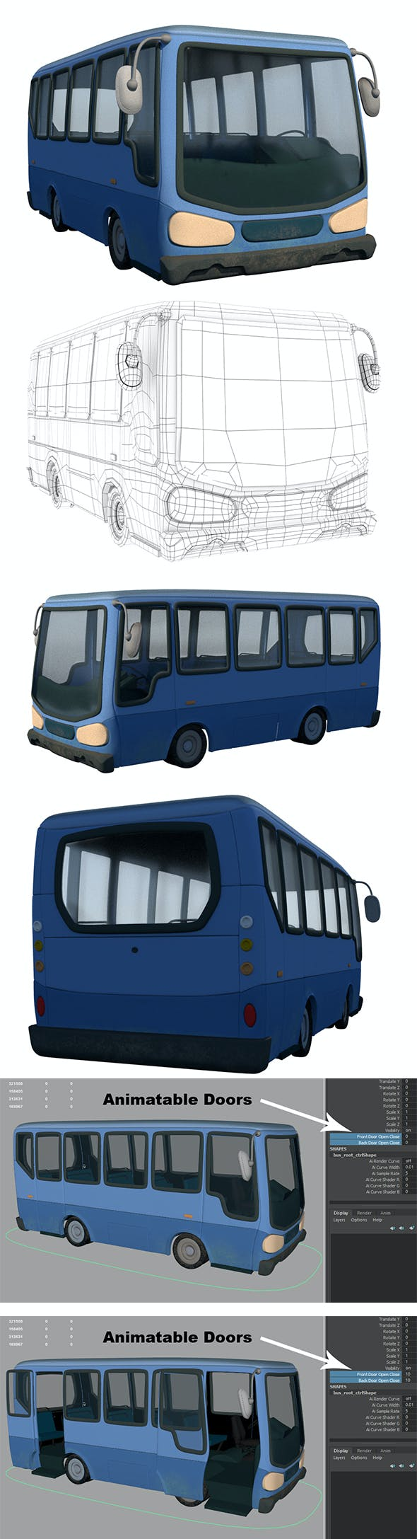 Cartoon Bus - 3DOcean Item for Sale