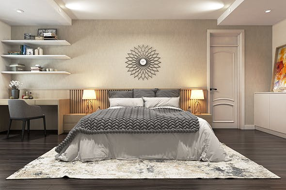 Apartment Bedroom modern - 3DOcean Item for Sale
