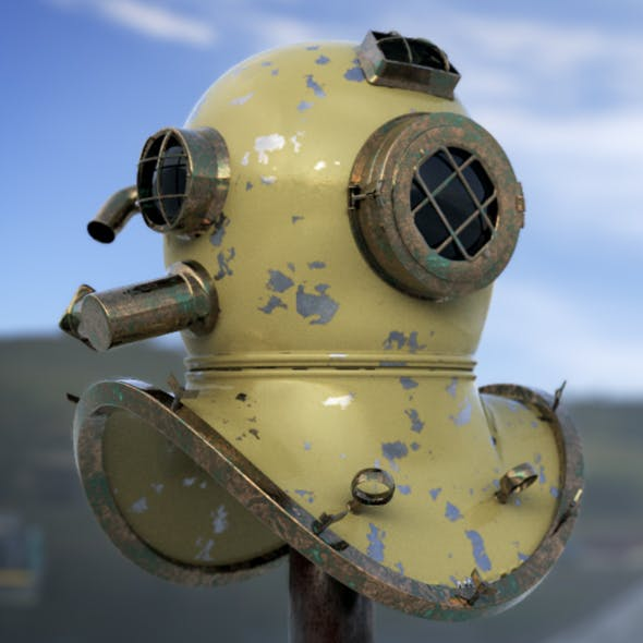 Old Diving helmet - 3DOcean Item for Sale