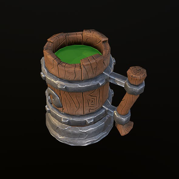stylized mug - 3DOcean Item for Sale