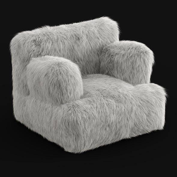 Winter Fox Faux-Fur Eco-Lounger White