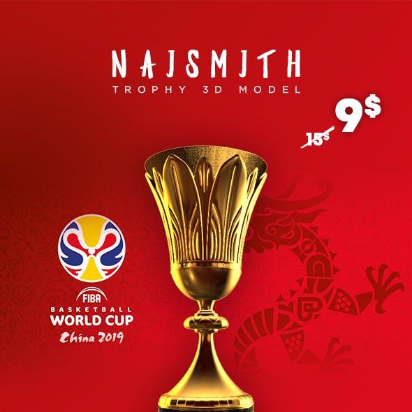 FIBA Basketball World Cup Trophy 3D Model