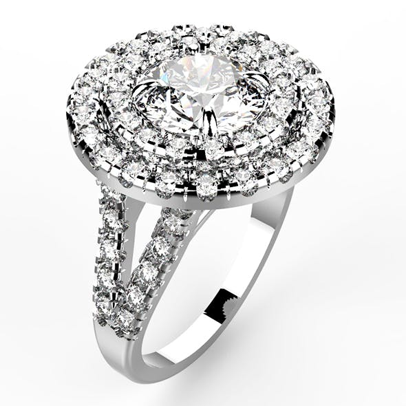 Diamond Ring Round - 3DOcean Item for Sale