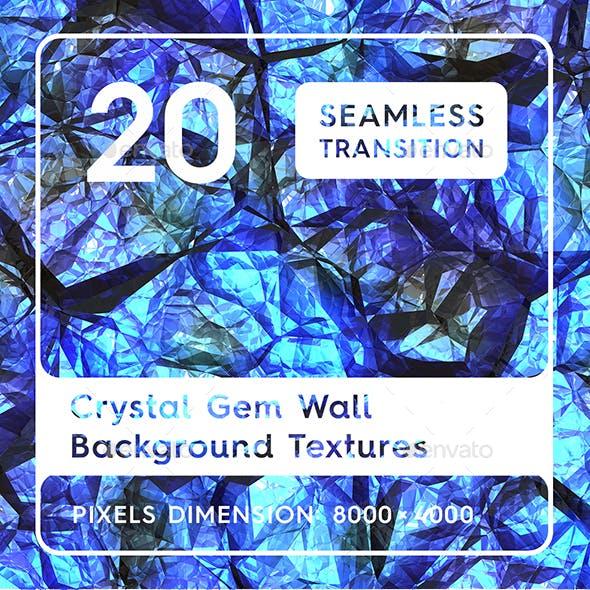 20 Crystal Gem Wall Textures