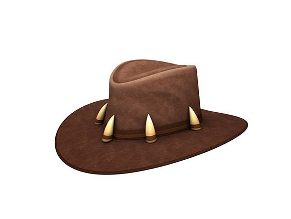 Leather Hat - 3DOcean Item for Sale