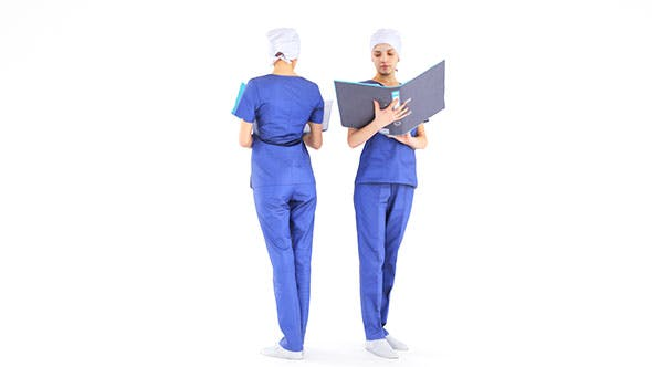 Surgical nurse 09 - 3DOcean Item for Sale