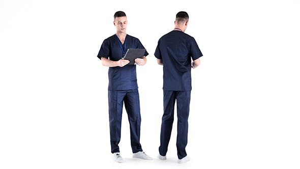 Male surgical doctor 01 - 3DOcean Item for Sale