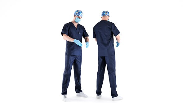 Male surgical doctor 02 - 3DOcean Item for Sale