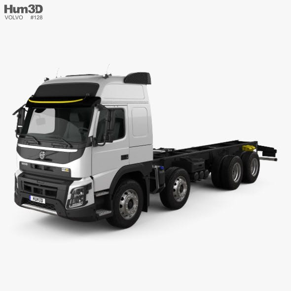 Volvo FMX Globetrotter Cab Chassis Truck 4-axle 2013 - 3DOcean Item for Sale