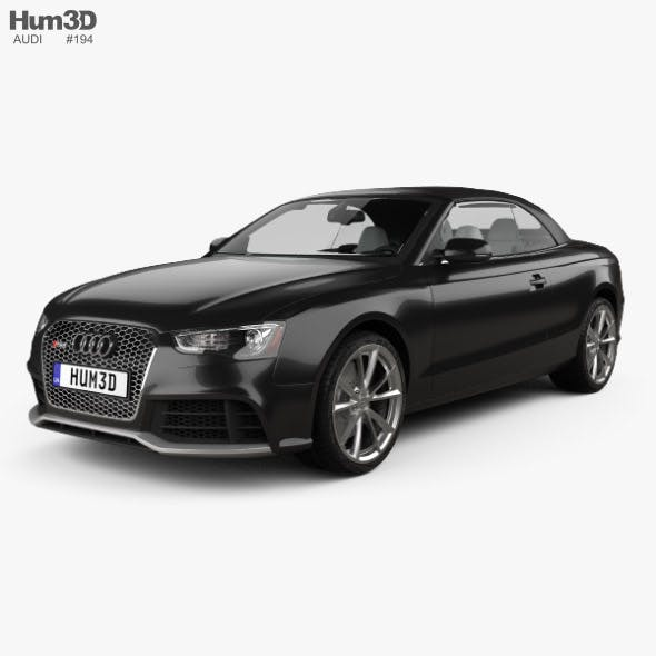 Audi RS5 cabriolet with HQ interior 2012 - 3DOcean Item for Sale
