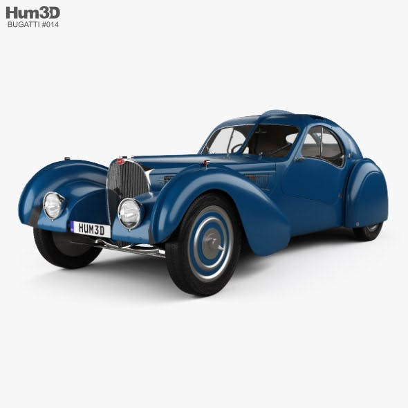 Bugatti Type 57SC Atlantic with HQ interior 1936 - 3DOcean Item for Sale