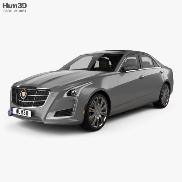 Cadillac CTS with HQ interior 2014 - 3DOcean Item for Sale