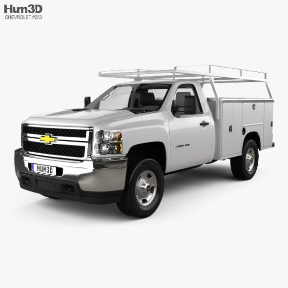 Chevrolet Silverado 2500HD Work Truck with HQ interior 2011 - 3DOcean Item for Sale