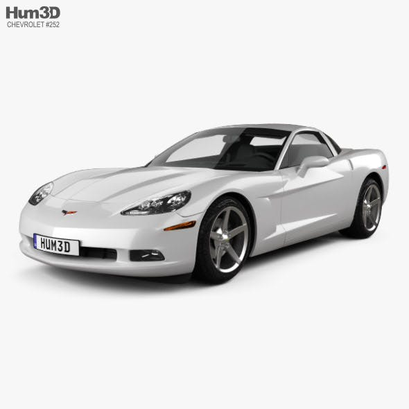 Chevrolet Corvette coupe with HQ interior 2011 - 3DOcean Item for Sale