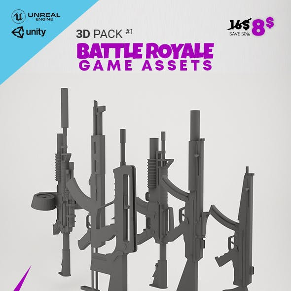 3D Pack Battle Royale Game Assets 1