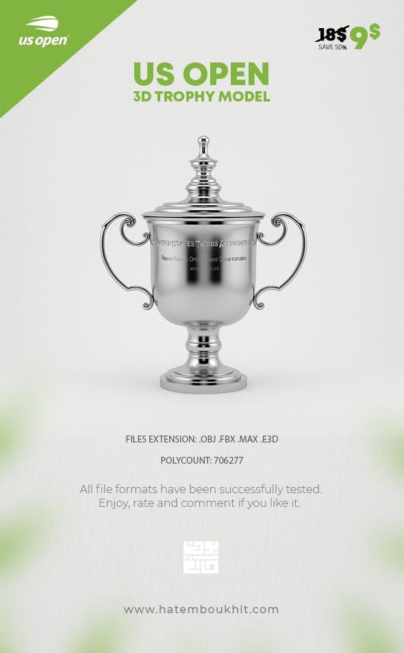 US Open Trophy 3D Model - 3DOcean Item for Sale