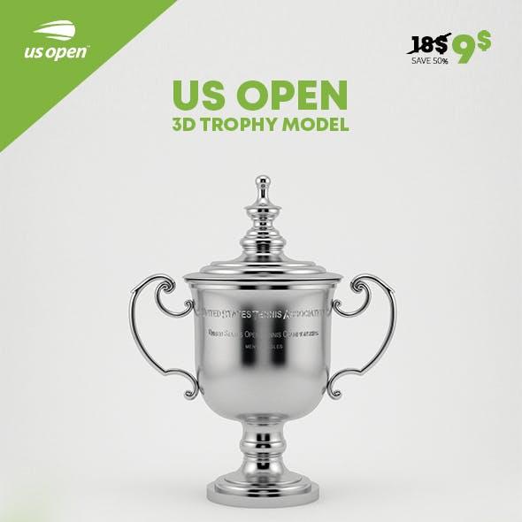 US Open Trophy 3D Model