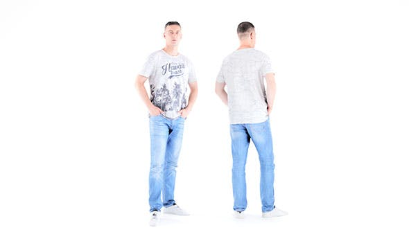 Man casual style 01 - 3DOcean Item for Sale
