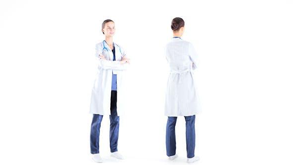 Female medical doctor 11 - 3DOcean Item for Sale