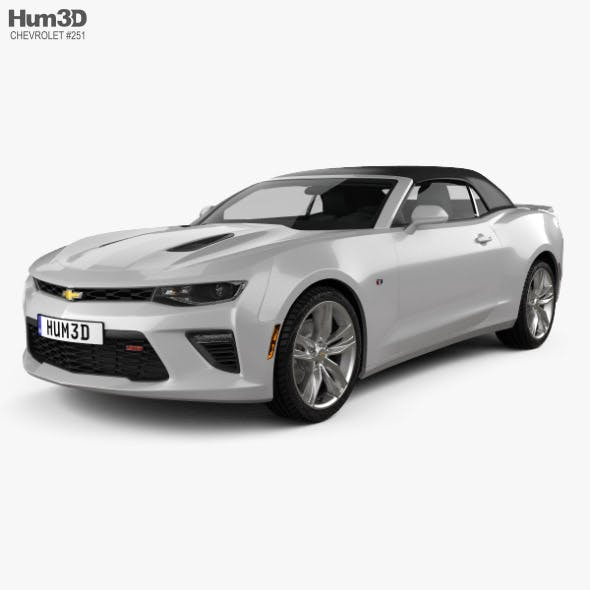 Chevrolet Camaro SS convertible with HQ interior 2016 - 3DOcean Item for Sale
