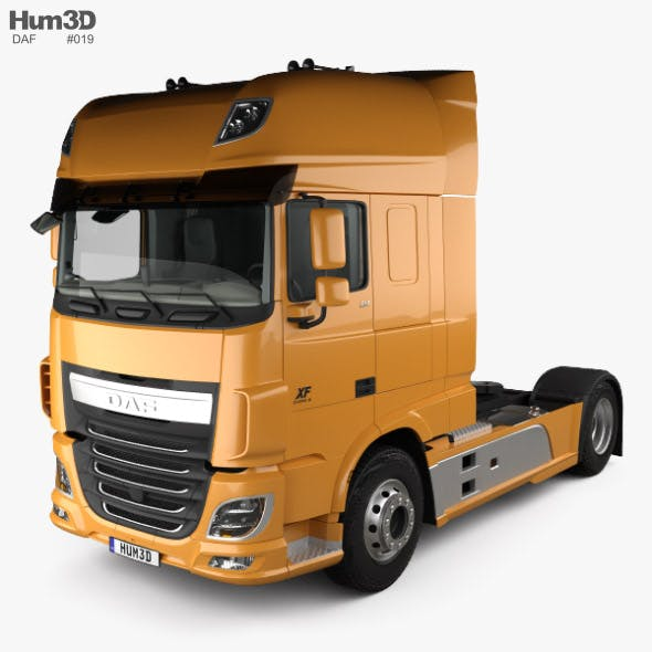 DAF XF 510 Tractor Truck 2-axle with HQ interior 2013