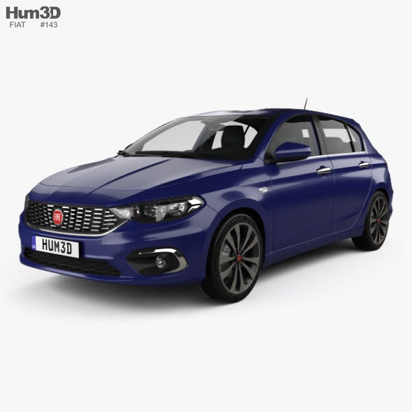 Fiat Tipo hatchback with HQ interior 2017 - 3DOcean Item for Sale