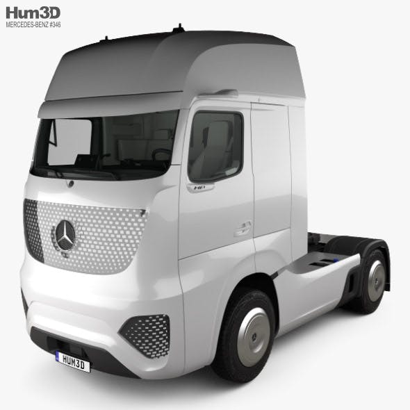 Mercedes-Benz Future Truck with HQ interior 2025 - 3DOcean Item for Sale