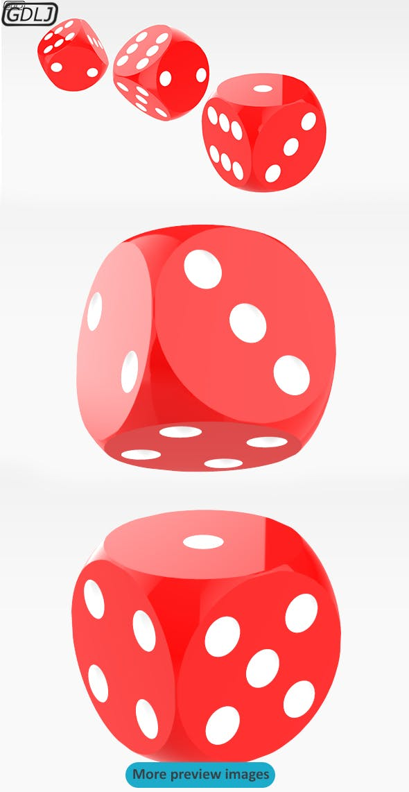 Red Dices - 3DOcean Item for Sale
